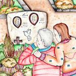 Besuch beim Elterngrab...