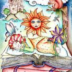 Magic of reading - Aquarell - 2014 - Buchcover