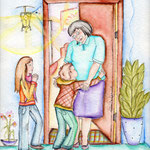 Oma vergibt mit offenen Armen