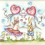 Barock Dancing - Aquarell