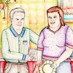 Hans-Dieter & Daniela im Behindertenwohnhaus.