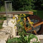 Selbstgebautes Wasserrad
