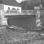Pont neuf à la Rivière des Fleurs, moulin Bouffard (1944)