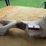 Boîte à bijoux (Création: Daniel, os de bison. Peinture : Pauline L'Heureux)