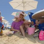 ja, ja der Sand ist echt toll...