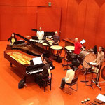 "Rehearsing de Falla's ""danza del fuego"" with Ken'ichi Nakagawa and Tambuco"