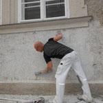Malermeister Michael Gühl _ Anlegen von Musterflächen in reinem Malerkalk
