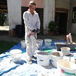Vorbereitung ist alles. Malermeister Michael Gühl