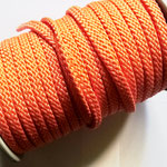 Flach, hohlgeflecht Seil aus Polypropylen 8mm neon orange