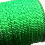 Flach, hohlgeflecht Seil aus Polypropylen 8mm grün