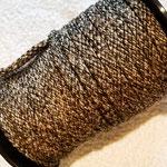 Flach, hohlgeflecht Seil aus Polypropylen 8mm braun-schwarz