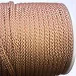 Flach, hohlgeflecht Seil aus Polypropylen 8mm braun