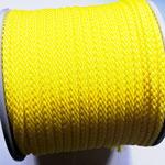 Flach, hohlgeflecht Seil aus Polypropylen 8mm gelb