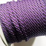 Flach, hohlgeflecht Seil aus Polypropylen 8mm lila-schwarz