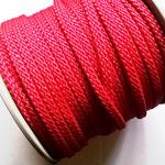 Flach, hohlgeflecht Seil aus Polypropylen 8mm rot