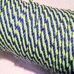 Flach, hohlgeflecht Seil aus Polypropylen 8mm grün-blau