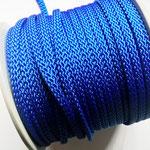 Flach, hohlgeflecht Seil aus Polypropylen 8mm blau