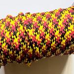 Flach, hohlgeflecht Seil aus Polypropylen 8mm/12mm gelb-rot-schwarz