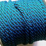 Flach, hohlgeflecht Seil aus Polypropylen 8mm/12mm blau-schwarz