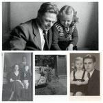 Erwin Komenda mit Ehefrau und den Kindern Ingrid und Erwin jun.