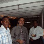 Le Président Gumbs et moi même