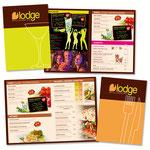 Création des cartes cocktails et restauration pour la brasserie O'Lodge