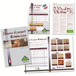 Création de fiche produits parquet (Formats A4 R°/V° simple & 4 pages) pour Leroy Merlin