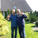 Künstler Klein Jürgen und Künstler Dieter Fricke sind seit über 16 Jahre lang gut befreundet