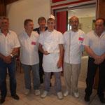 William WAZNER, Dève Moulin, Christian MARTIN, Victor CASTILLON, Yves SAUNIER, M JACQUET représentant la CCI