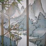 Seitenansicht (Landschaft frei nach asiatischen Landschaften)
