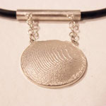 Wellenscheibe, Silber 925, Goldkügelchen, Kautschuk