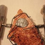 Silber 925, Seeschwalbenfügel und Gestein aus Island