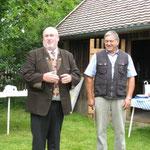 Bürgermeister und 1. Vorstand eröffnen das Fest