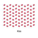 tela estampada algodón Kiss