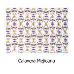 tela estampada algodón Calavera Mejicana