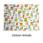 tela estampada algodón Cartoon Animals
