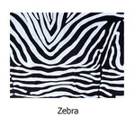 telaestampada algodón Zebra