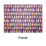 tela estampada algodón Friends