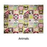 tela estampada algodón Animals