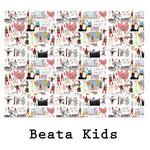 tela estampada algodón Beata Kids