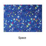 tela estampada algodón Space