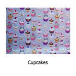 tela estampada algodón Cupcakes