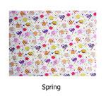 tela estampada algodón Spring