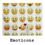 tela estampada algodón Emoticons