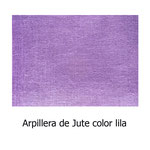 arpillera color lila