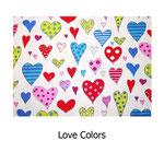 tela estampada algodón Love Colors