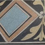 Focus sur imitation de carreaux faillancés-Murs d'une villa Villiers sur Marne 94-