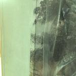 Détail de raccord du papier peint panoramique