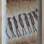 """""""Schräge Vögel"""", 43 cm x 33 cm, verkauft"""