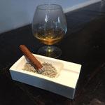 hapje : sigaar ganzenlever en consomme gevogelte